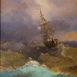 Картины, постеры, гобелены, панно - Копия картины Айвазовского масло на холсте, 0