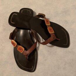Шлепанцы - Сланцы женские шлёпанцы (Бразилия) кожаные, 0