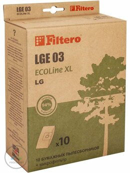 Роботы-пылесосы - Пылесборник Filtero LGE 03 ECOLine XL бумажные,…, 0