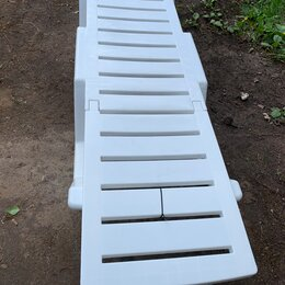Лежаки и шезлонги - Пластиковый шезлонг лежак, 0