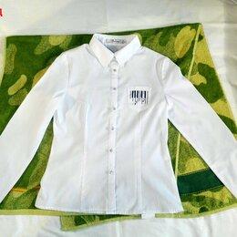Рубашки и блузы - Школьная блузка для девочки 10 лет. Размер - 76, рост - 152-158. 5 класс., 0