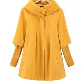 Пальто - Желтое пальто-трапеция, 0