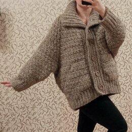 Пальто - Пальто-кардиган вязаное объёмное, 0