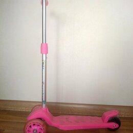 Самокаты - Детский трехколесный самокат с подсветкой колес, 0