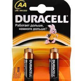 Батарейки - БАТАРЕЙКА DURACELL BASIC АА  1.5V LR6 2ШТ, 0