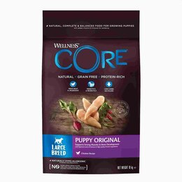 Корма  - Сухой корм для щенков крупных пород Wellness Core Puppy Original LARGE Breed..., 0