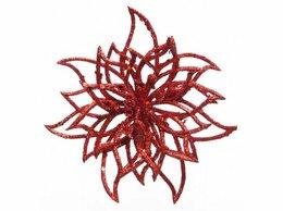 Комнатные растения - Пуансеттия ЛУЧИСТАЯ на клипсе, красная, 9х15 см,…, 0