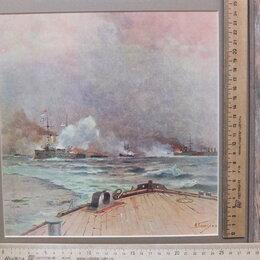 Картины, постеры, гобелены, панно - акварель с карандашом Морское сражение , 0