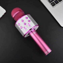 Микрофоны - Караоке-микрофон WS 858 розовый, 0