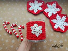 Новогодний декор и аксессуары - Чехол грелка на кружку Снежинка, 0
