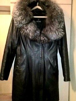 Куртки - Куртка кожаная с чернобуркой, 0