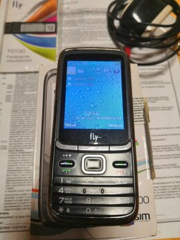 Мобильные телефоны - 3 SIM Мобильный кнопочный телефон Fly TS100, 0