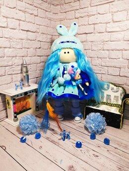 Куклы и пупсы - Кукла Тильда в голубом цвете, 0