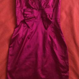 Платья - Розовое атласное платье миди Oasis 44-46, 0