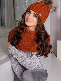 Головные уборы - Комплект шапка и шарф-хомут, 0