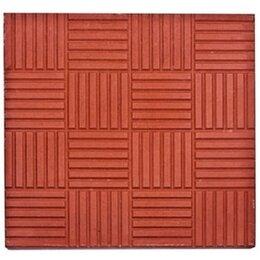 Тротуарная плитка, бордюр - Тротуарная плитка 300*300*30 паркет красная, 0