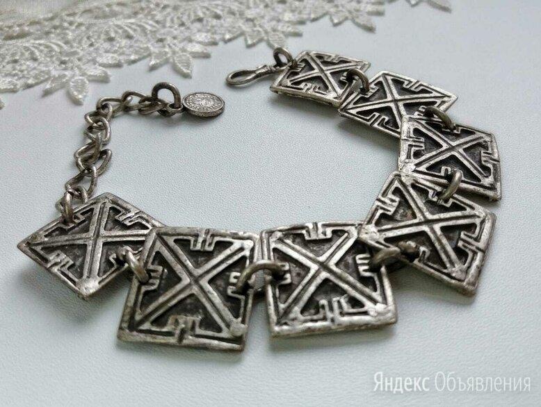 Шикарный антикварный браслет мельхиор серебрение по цене 1299₽ - Браслеты, фото 0