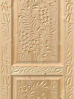 Межкомнатные двери - Резные двери из массива дерева, «Хохлома», 0