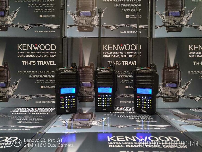 Рация Kenwood TH-F5 Travel DUAL BAND 8W IP67 НОВЫЕ!!! по цене 3500₽ - Рации, фото 0