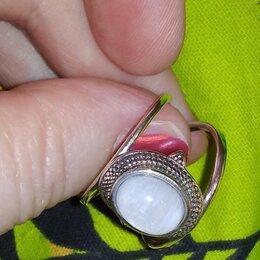 Кольца и перстни - Кольцо 925 пробы.Серебро.Совоеменный дизайн.С драгоценным лунным камнем ., 0