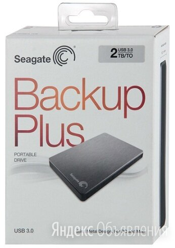 Внешний HDD Seagate 2тб USB 3.0 по цене 4000₽ - Жёсткие диски и SSD, фото 0