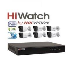 Камеры видеонаблюдения - Видеонаблюдение HiWatch (IP-POE) на 6камер 2Mxp, 0