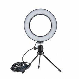 Фотовспышки - Светодиодная кольцевая лампа 16 см настольная, 0
