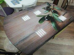 Столы и столики - Раскладной стеклянный стол с фотопечатью, 0