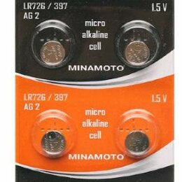 Батарейки - Батарейка Minamoto AG02/LR726, 0