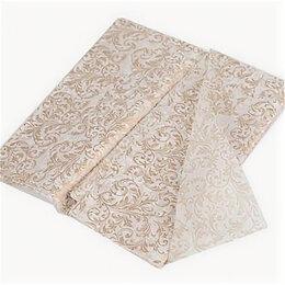 Бумага и пленка - бумага тишью узор золотой, 0
