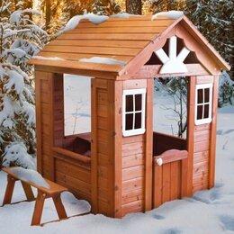 Игровые домики и палатки - Детский деревянный игровой домик 1х1.5 м, 0