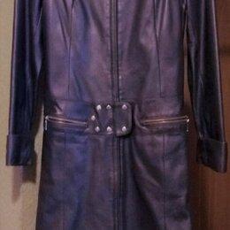 Пальто - Плащ-пальто из натуральной кожи, Турция, р.42-44, 0
