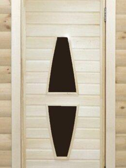 Двери - Банная дверь липа остекленная ПО-12, 0