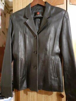 Куртки - Женский кожаный пиджак (куртка), 0