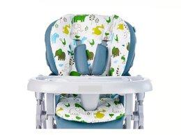 Стульчики для кормления - Новый чехол - вкладка в стул (белый с животными), 0