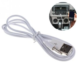 Кабели и разъемы - Аудио кабель AUX USB на Jack 3,5 мм телефон, 0