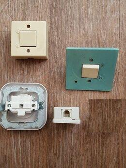 Электроустановочные изделия - Розетка обычная, телефонная, выключатели, б/у,…, 0
