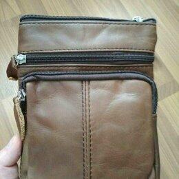 Сумки - Мужская сумка из натуральной кожи новая, 0