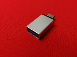 Зарядные устройства и адаптеры - Переходник Type-C на USB 3.0 OTG серебристый, 0
