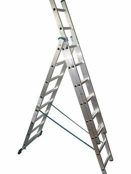 Лестницы и стремянки - Лестница алюминиевая 3-х секционная 3х8 (5,12м), 0