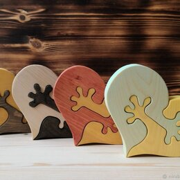 Игровые наборы и фигурки - Деревянный пазл Сердца, 0
