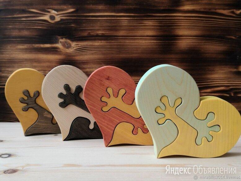 Деревянный пазл Сердца по цене 120₽ - Игровые наборы и фигурки, фото 0
