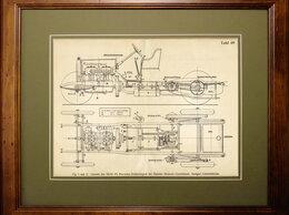 Техническая литература - 1916 год. Шасси автомобиля Мерседес 28/60 PS, в…, 0