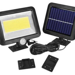 Уличное освещение - Светодиодный прожектор с датчиком движения на солнечной батарее , 0