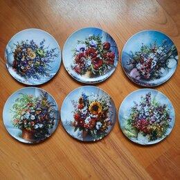 Интерьер - Шесть настенных тарелок Rosenthal, Германия, 0