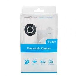 Камеры видеонаблюдения - Wi-fi Camera 102W V380 панорамная беспроводная камера видеонаблюдения, 0