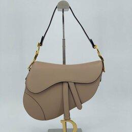 Сумки - Женская сумка Christian Dior Saddle бежевая натуральная кожа новая, 0