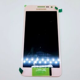 Дисплеи и тачскрины - Дисплей Samsung A300 Galaxy A3 2015 модуль розовый Pink GH97-16747E Оригинал, 0