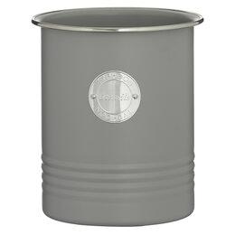 Ёмкости для хранения - Банка с крышкой круглая 15 см серая Living, 0