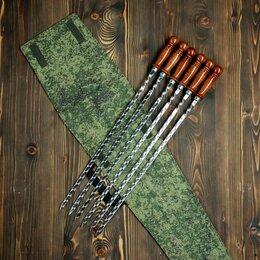 Шампуры - Набор 6 шампуров 50 см, в камуфляжном чехле, 0
